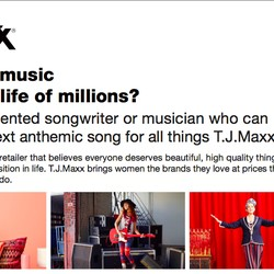 License Your Song for a T.J.Maxx Ad Campaign