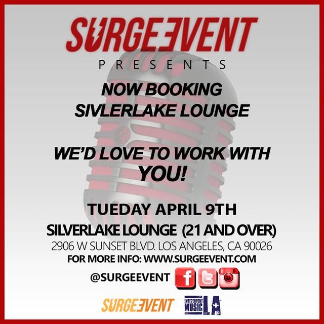 PLAY: Surge Event at Silverlake Lounge - April 9 (LA)
